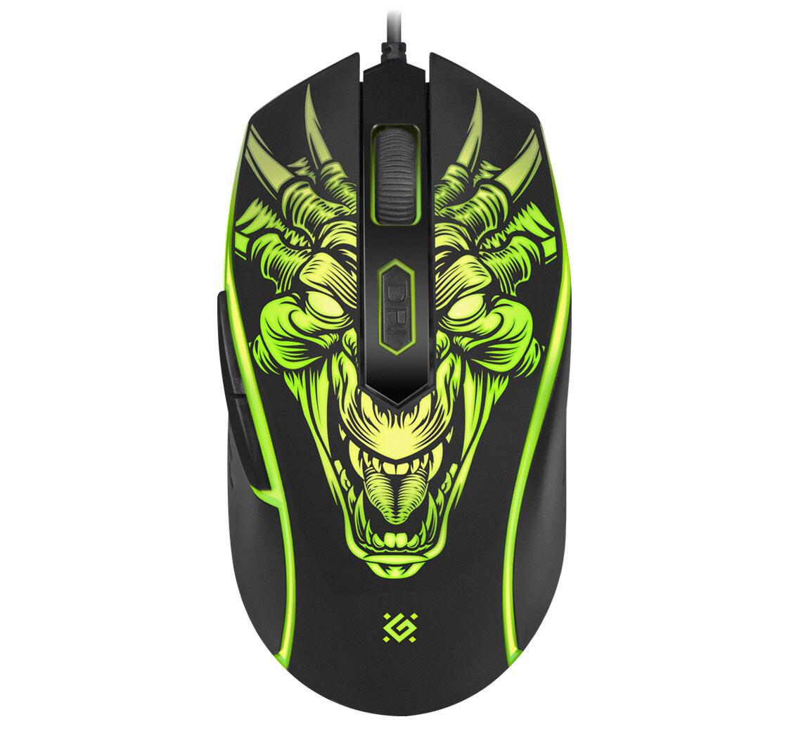 Проводная игровая мышь Defender Monstro GM-510L оптика,6 кнопок,3200dpi