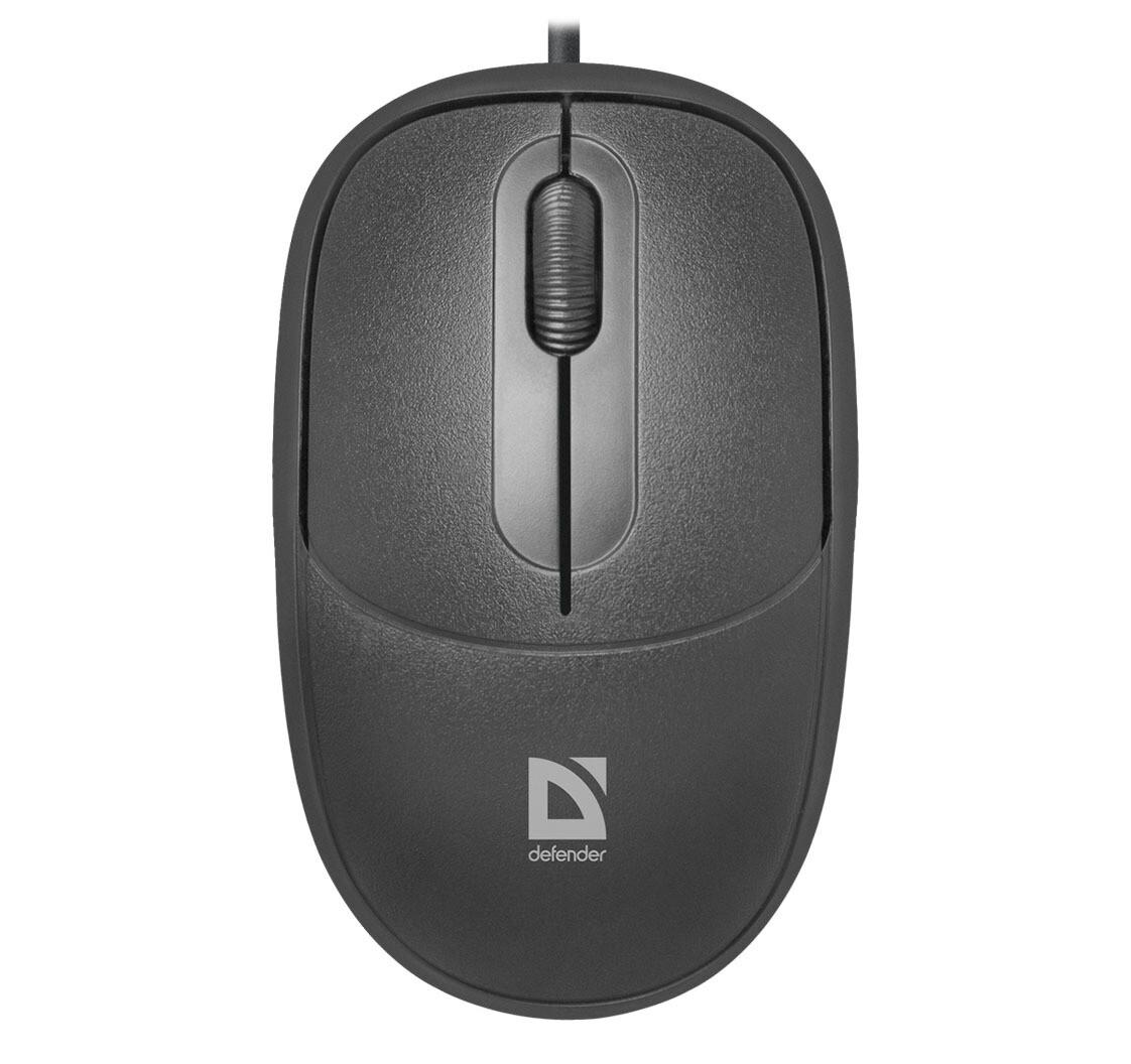 Проводная оптическая мышь Defender Datum MS-980 черный,3 кнопки,1000dpi