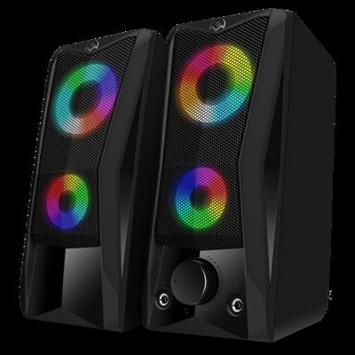 Акустическая система 2.0 Sven 445, мощность 2х3Вт (RMS), RGB подсветка