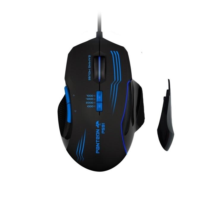Мышь  игровая программируемая Jet.A Panteon PS91 (500-3500 dpi, 7кн, LED, USB)