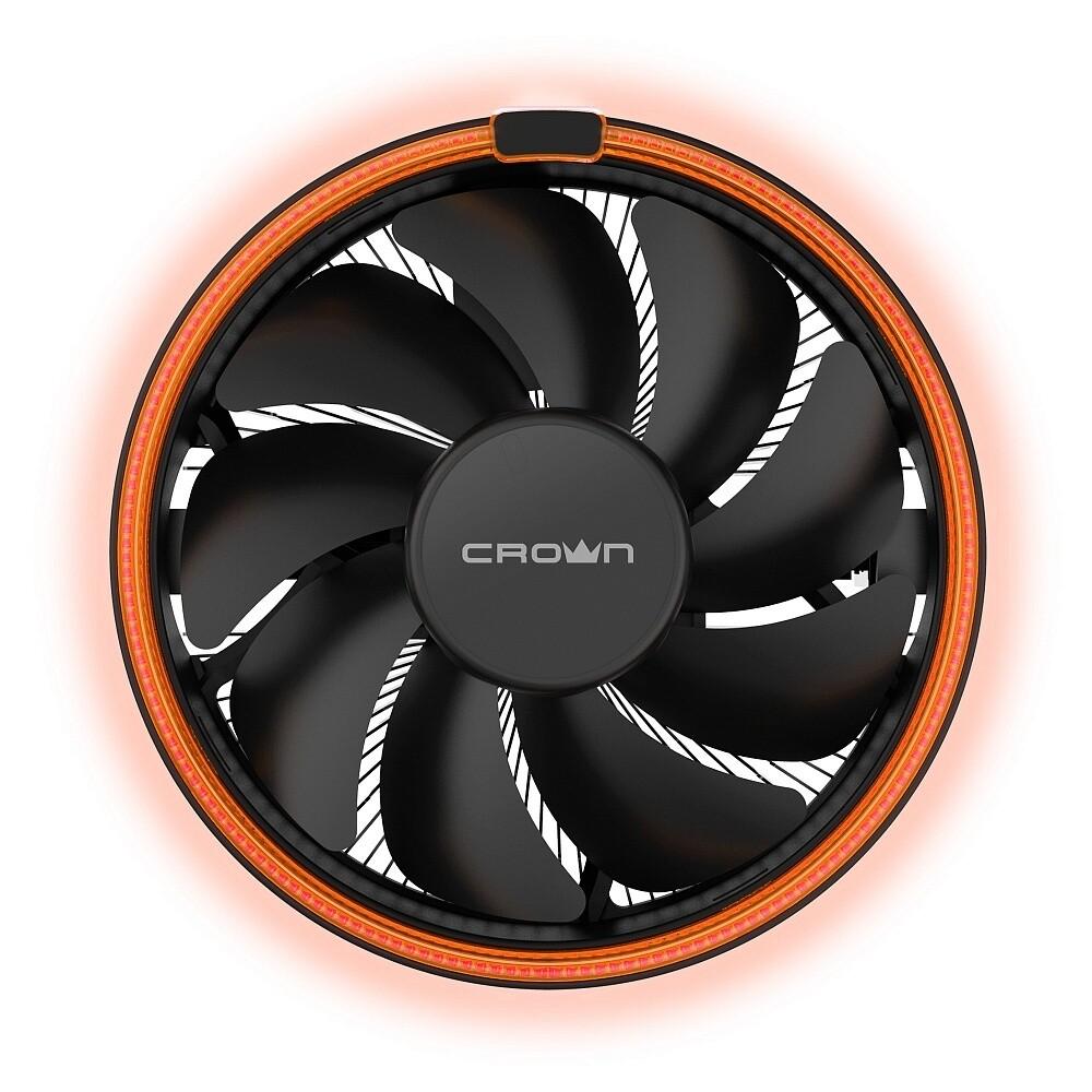 Кулер для процессора CROWN CM-1153PWM [CM-1153PWM ORANGE]