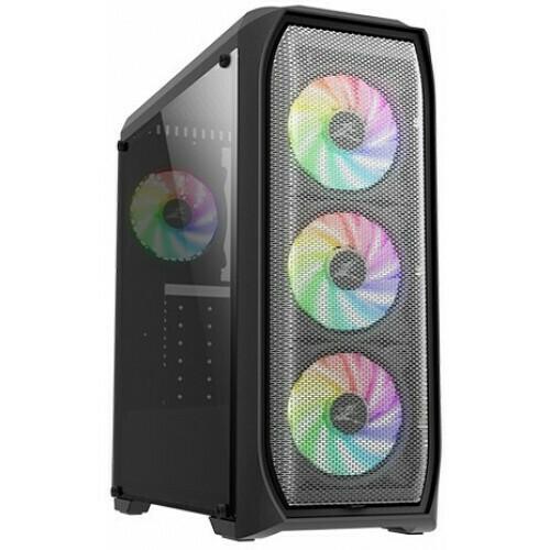 Корпус ATX ZALMAN N5 MF, Midi-Tower, без БП, черный [n5 mf black]