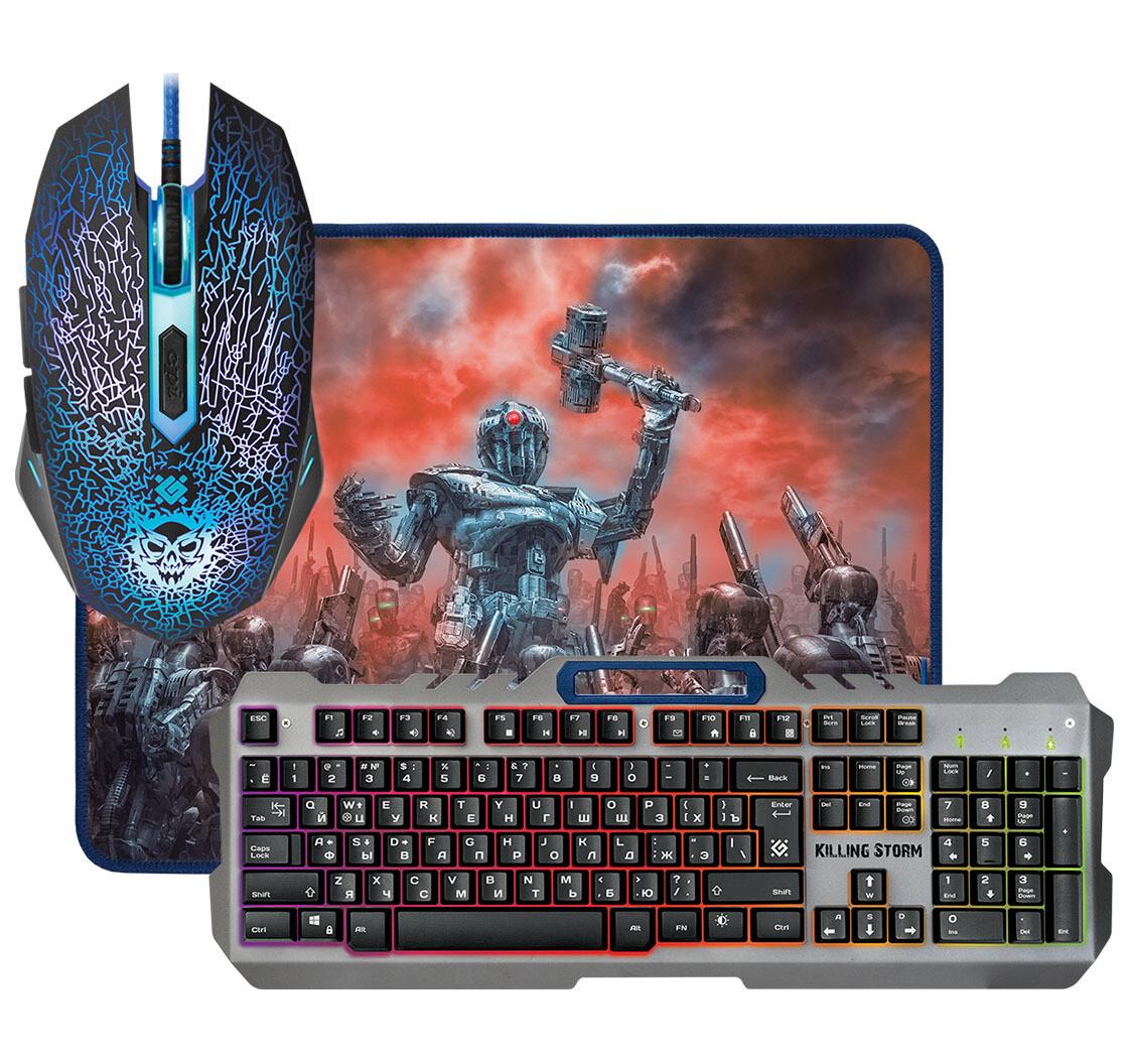 Клавиатура+мышь+ковер Defender Killing Storm MKP-013L RU