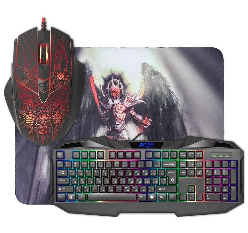 Клавиатура+мышь+ковер Defender Anger MKP-019 RU
