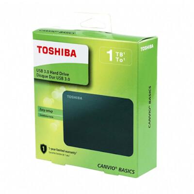 Внешний жесткий диск TOSHIBA Canvio Basics HDTB410EK3AA, 1ТБ, черный