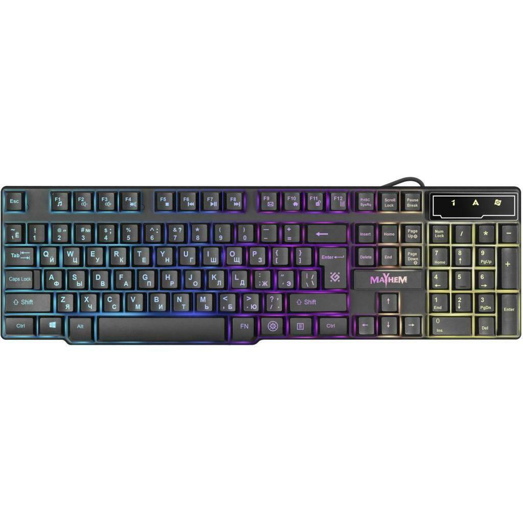 Клавиатура проводная игровая Mayhem GK-360DL RU, RGB подсветка