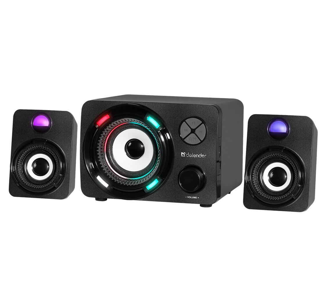 Акустическая 2.1 система Defender G11 11Вт, Light/BT/FM/TF/USB/AUX