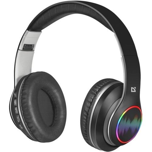 Bluetooth наушники с микрофоном Defender B545 FreeMotion, V5, MP3, FM, беспроводная полноразмерная гарнитура черная
