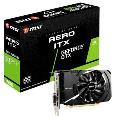 Видеокарта MSI GeForce GTX 1650 D6 Aero ITX OC