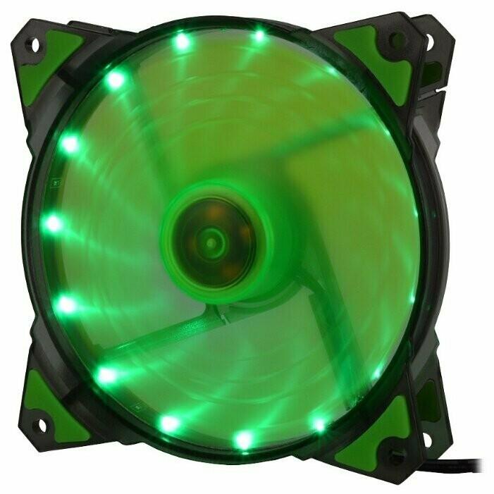 Вентилятор Crown 120mm Green LED