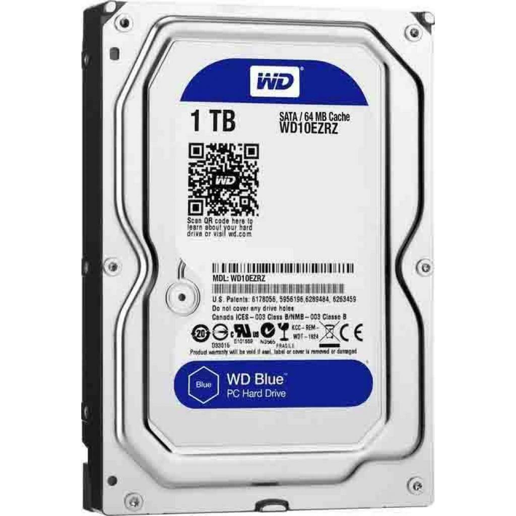 Жесткий диск Western Digital Blue 1TB 5400rpm 64MB WD10EZRZ 3.5 SATAIII