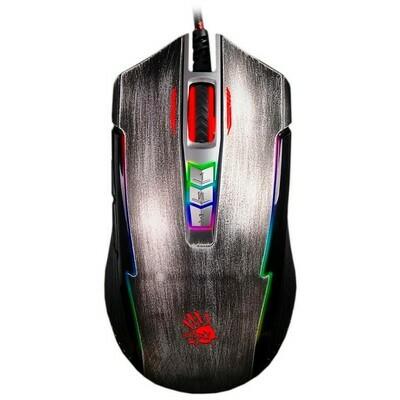Мышь A4 Bloody P93 Bullet, игровая, оптическая, проводная, USB, серый