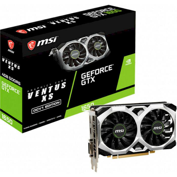 Видеокарта MSI GeForce GTX 1650 D6 Ventus XS OCV1