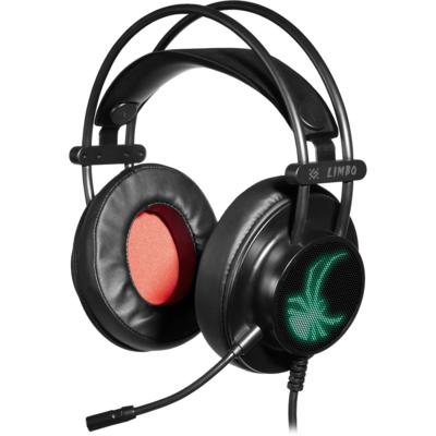 Наушники Defender Limbo игровые, с микрофоном, USB, черный