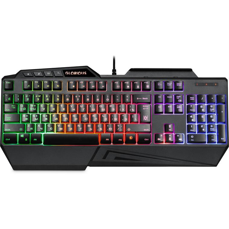 Клавиатура Defender Glorious GK-310L, USB, черный