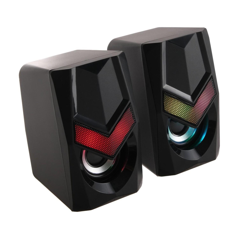 Акустическая 2.0 система Defender Solar 1 6Вт, подсветка, питание от USB