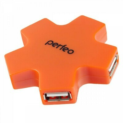 Perfeo USB-HUB 4 Port, (PF-HYD-6098H Orange)
