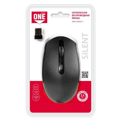 Мышь беспроводная Smartbuy ONE SBM-280AG-K черный (Тихие кнопки)