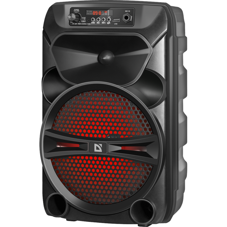 Портативная колонка Defender G110 12Вт BT, FM,USB,AUX с подсветкой