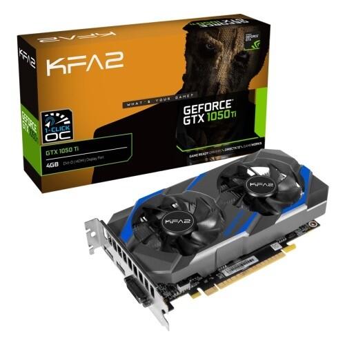 Видеокарта KFA2 GeForce GTX 1050 Ti (1-Click OC) 4GB (50IQH8DSQ31K)