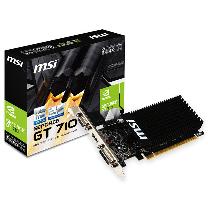 Видеокарта MSI GeForce GT 710 2GD3H LP