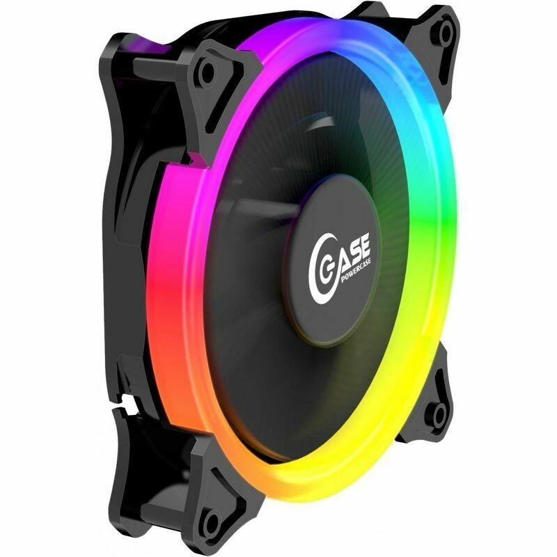 Вентилятор Powercase 120x120x25mm 5 color LED PF1-3+4