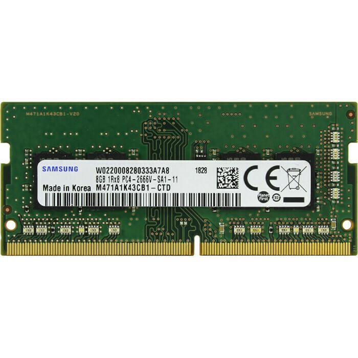 Модуль памяти SAMSUNG SO-DIMM DDR4 2666MHz 8GB (M471A1K43CB1-CTD)