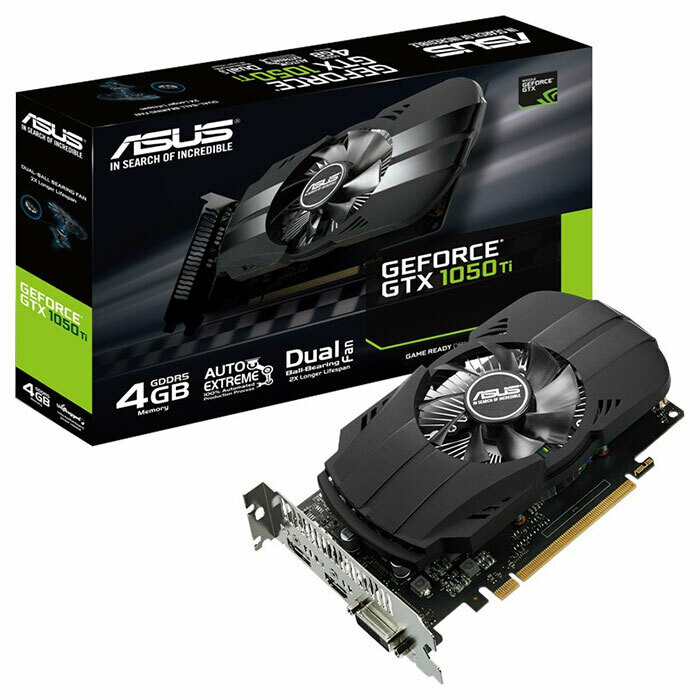 Видеокарта ASUS Phoenix GeForce GTX 1050 Ti 4GB GDDR5 (PH-GTX1050TI-4G)
