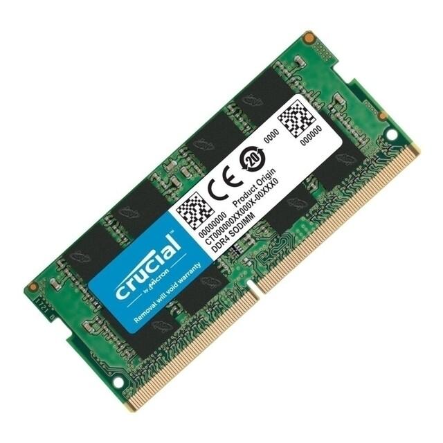 Модуль памяти Crucial Basics DDR4 SO-DIMM 2666MHz PC-21300 CL19 - 8Gb CB8GS2666