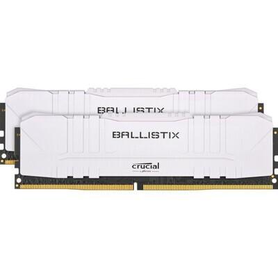Модуль памяти CRUCIAL Ballistix White DDR4 2666MHz 16GB Kit 2x8GB (BL2K8G26C16U4W)