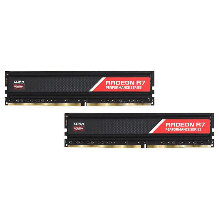 Модуль памяти AMD Radeon R7 Performance DDR4 2666MHz 16GB Kit 2x8GB (R7S416G2606U2K)