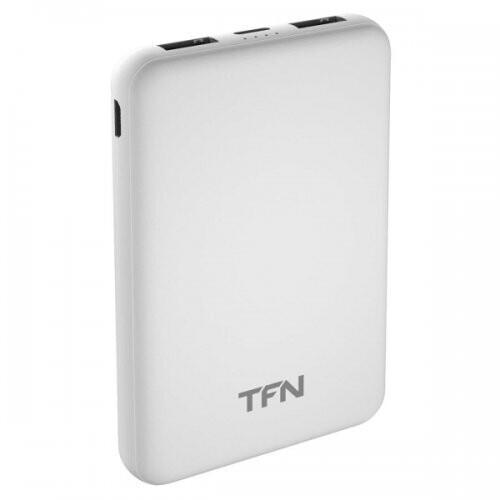 Power bank для телефона TFN Slim Duo PB-201 5000 мАч (белый)