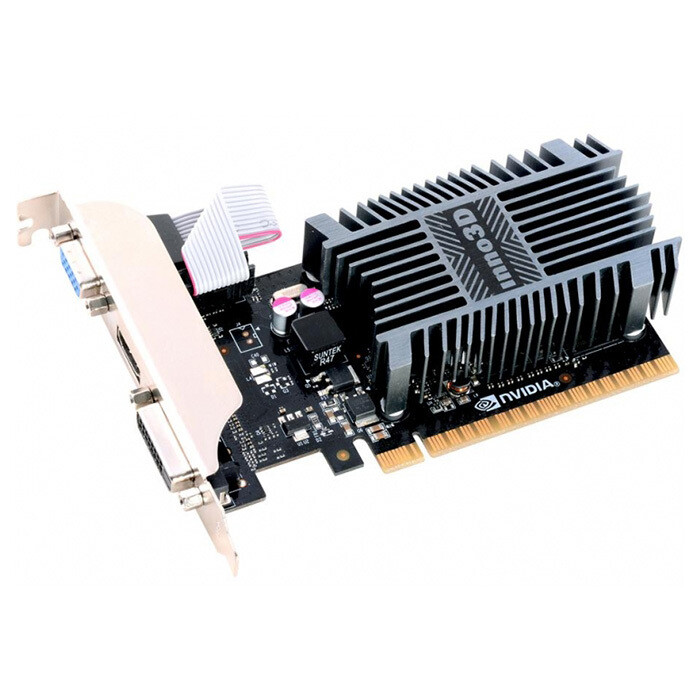 Видеокарта INNO3D GeForce GT 710 Silent LP [N710-1SDV-E3BX]