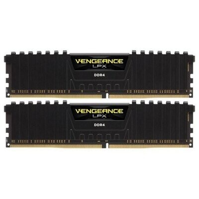 Модуль памяти CORSAIR Vengeance LPX Black DDR4 2666MHz 16GB Kit 2x8GB (CMK16GX4M2Z2666C16)