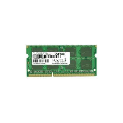 Оперативная память AFOX SODIMM DDR3-1600 8GB PC3-12800 (AFSD38BK1P)