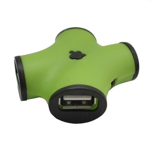 Концентратор USB 2.0 CBR CH 100 Green