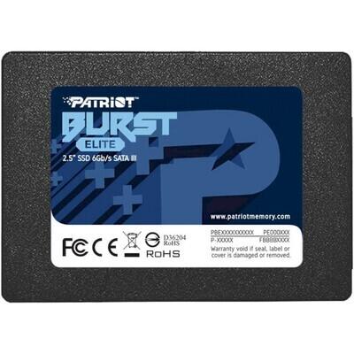 "SSD PATRIOT Burst Elite 480GB 2.5"" SATA (PBE480GS25SSDR)"