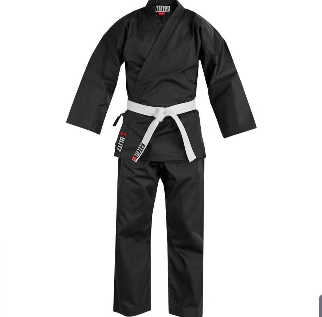 Lightweight Black Karate Uniform  ** Instructors Only**