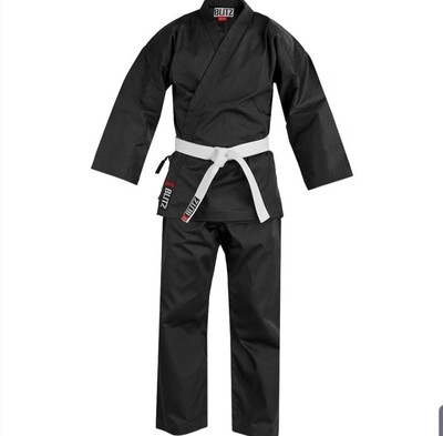 Lightweight Black Karate Uniform  ** Instructors Only**
