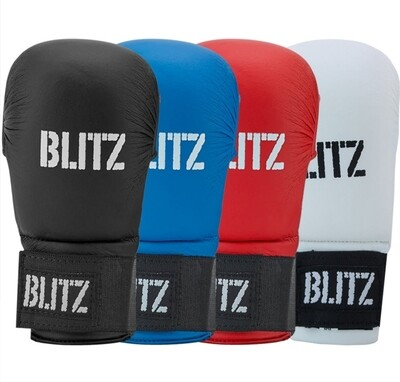 Black Karate Mitts - Tournament Only