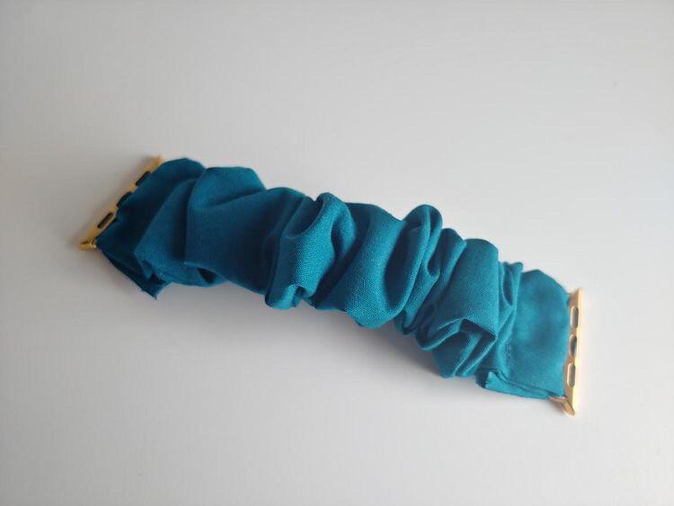 Teal Apple Watch Scrunchie Band