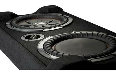 """Kicker Sealed downward-firing enclosure with 10"""" 2-ohm shallow-mount subwoofer and passive radiator"""