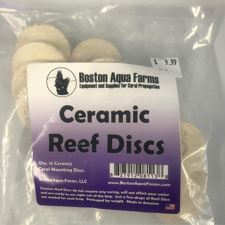 "Boston Aqua Farms Frag Disks 1.5"" Ceramic 15 Pcs"