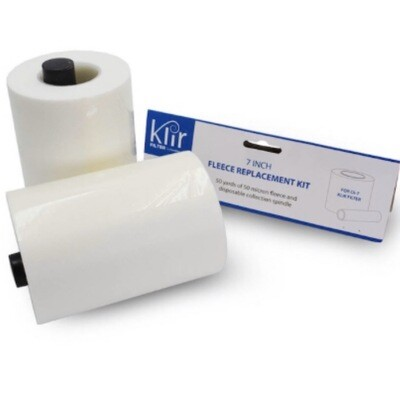 "Klir 7"" 50 Yards Of 50 Micron Fleece Replacement Rolls"