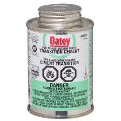 PVC to ABS Transition White Cement 118ml
