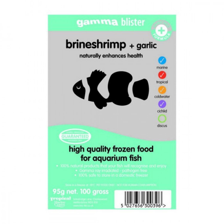 Gamma Frozen Brineshrimp + Garlic Blister pack