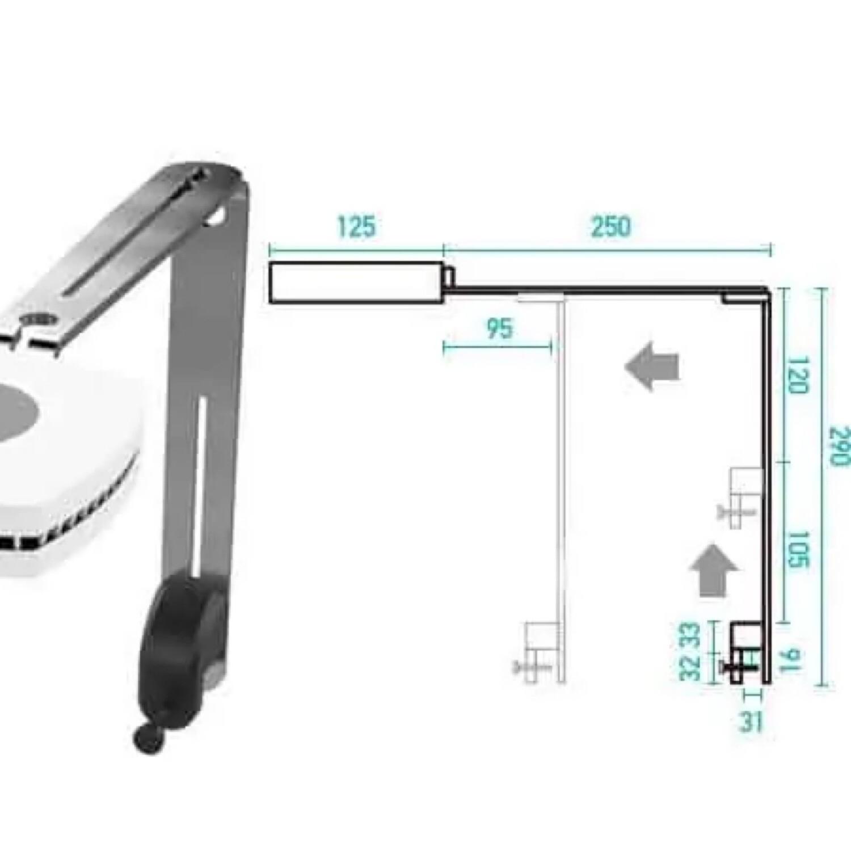 Aqua Illumination Prime Tank mount Silver
