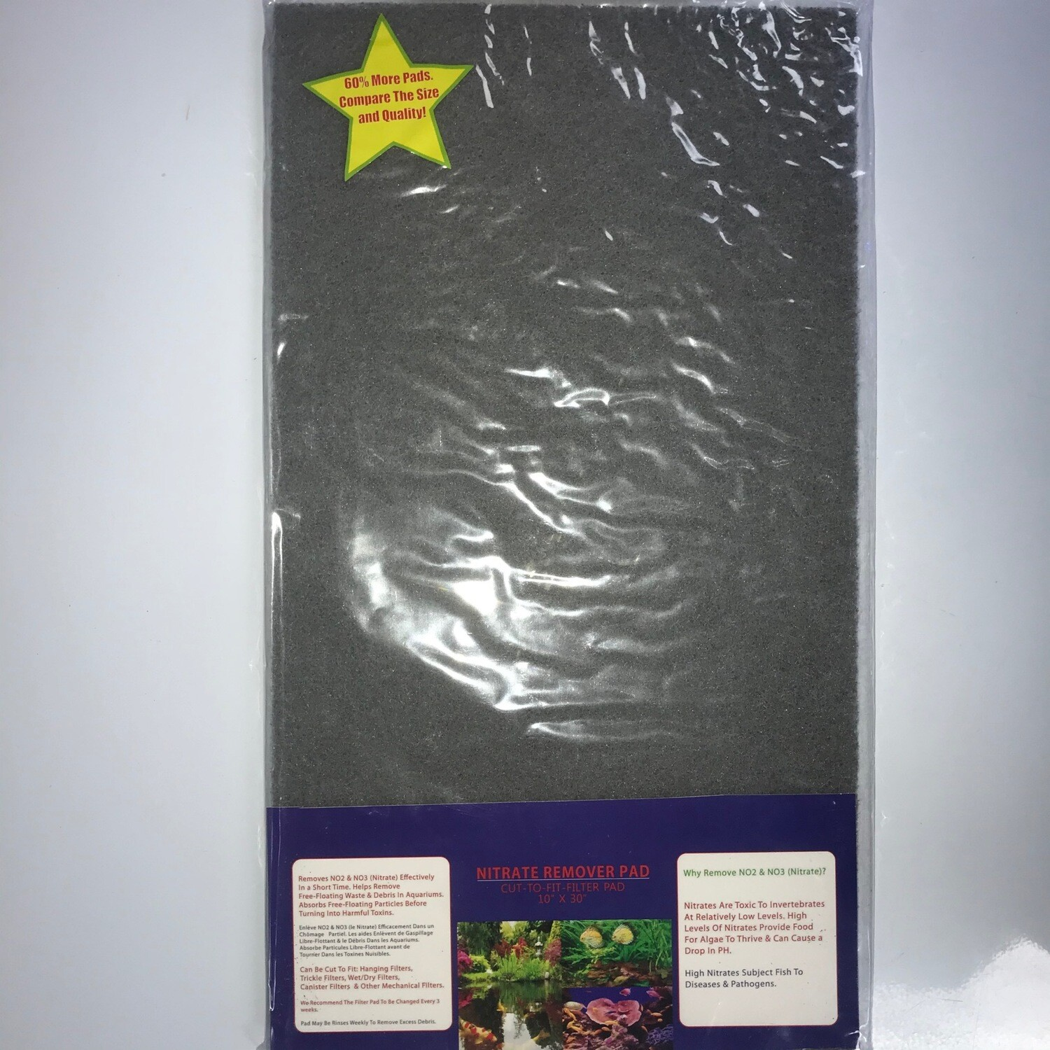 """Nitrate remover filter pad 10"""" x 18"""""""