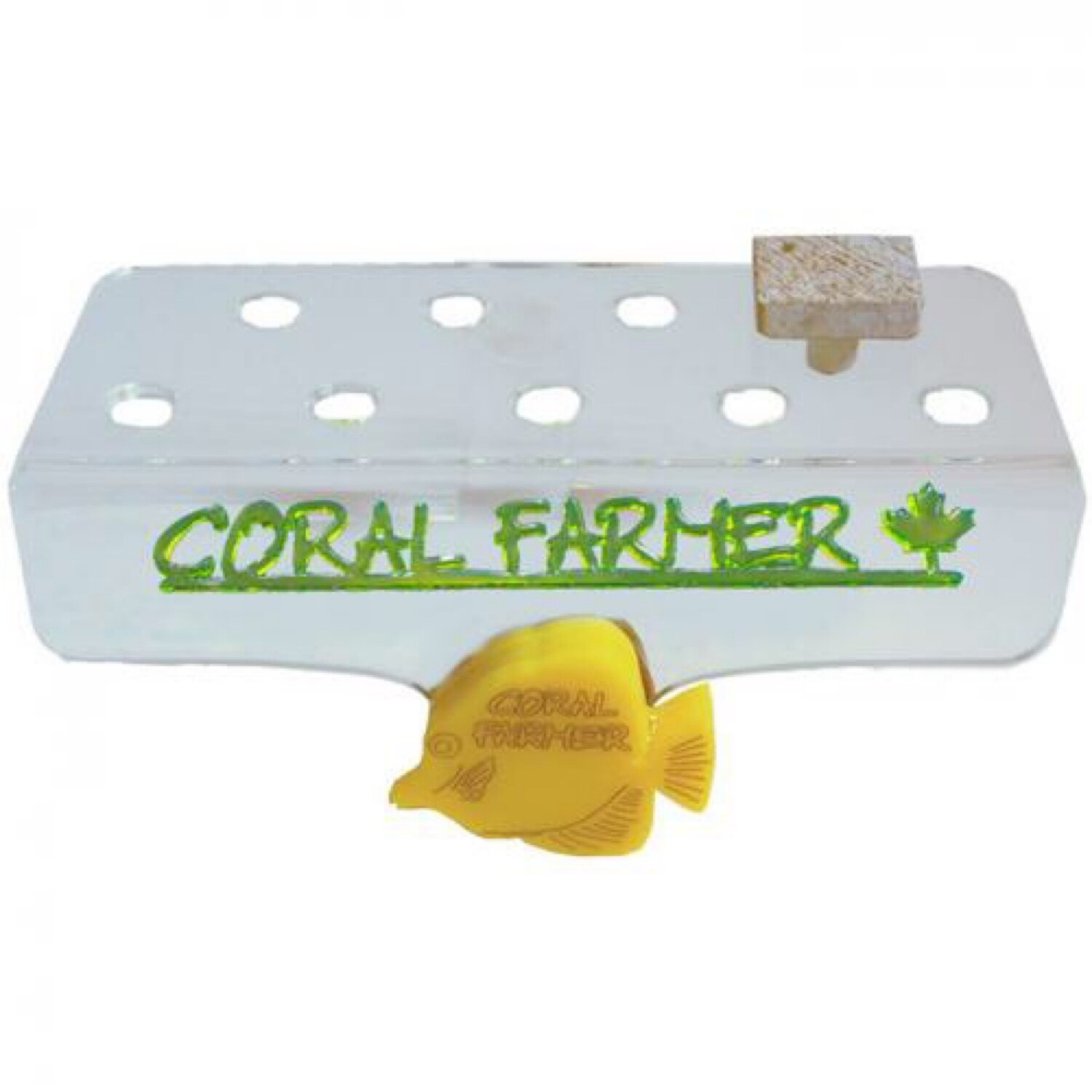 Coral Farmer 9 Hole Frag Rack - For Glass or Acrylic up to 3/8 in.