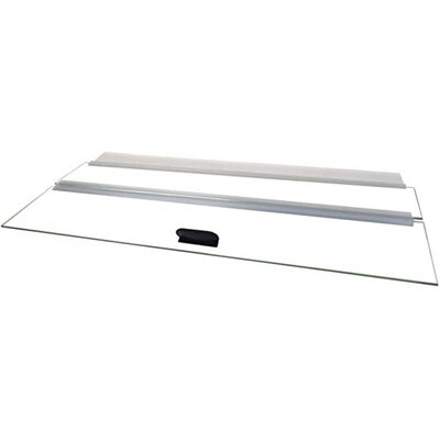 """Glass Canopy Lid with hinge and handle 24"""""""
